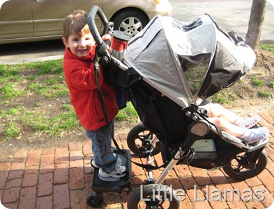 Little Llamas Reviews Baby Jogger Glider Board